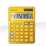 Canon - Ls-123k - calculadora (escritorio, basic calculator, metálico, amarillo, de plástico, botones, 16,4 x 5,3 mm)