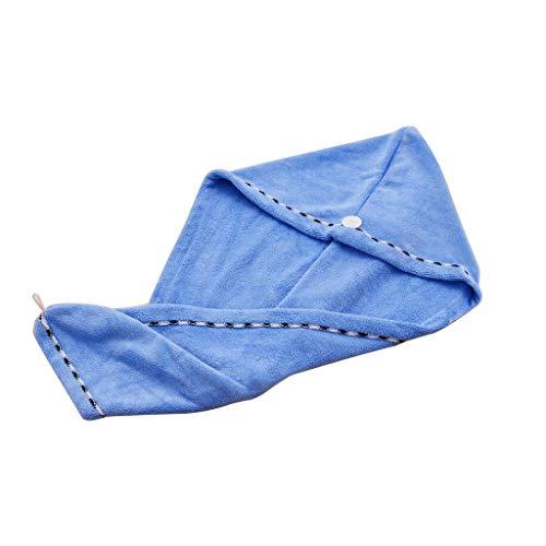 SIRIGOGO Juego de 2 Toallas de Microfibra para el Pelo Ultra Absorbente y rápido Magic Hair Dry Hat, Anti encrespamiento, Toalla de Ducha, Gorro de Ducha, Gran Regalo para Las Mujeres