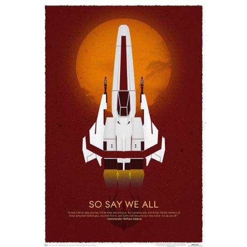 Battlestar Galactica- 10Th Anniversary Art Print Poster 27 x 40in