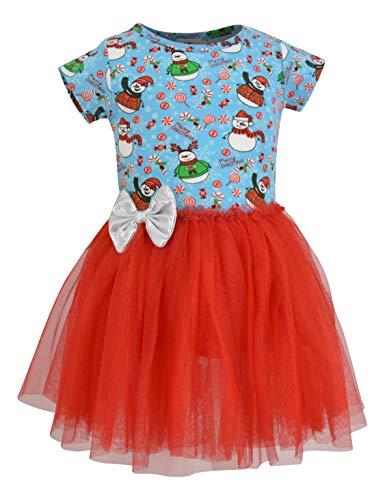 Unique Baby Girls Snowman Print Christmas Tutu Dress (3t)