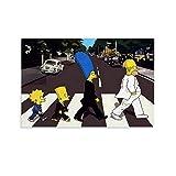 Heiwu Poster mit klassischem Anime-Motiv The Simpsons,