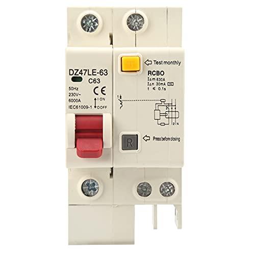 Interruttore automatico miniaturizzato, protezione contro le perdite DZ47LE‑63 per apparecchiature industriali per apparecchiature meccaniche per sistemi di distribuzione dell'alimentazione