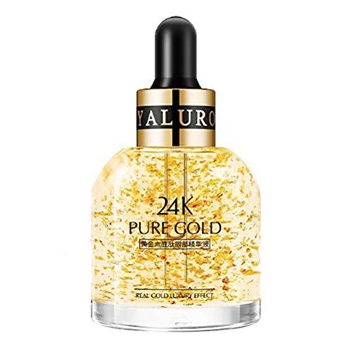 BSMEAN Sérum hydratant pour les yeux essence de l'or 24k anti-vieillissement sérum anti-rides éclaircir la couleur de la peau éclaircir les ridules