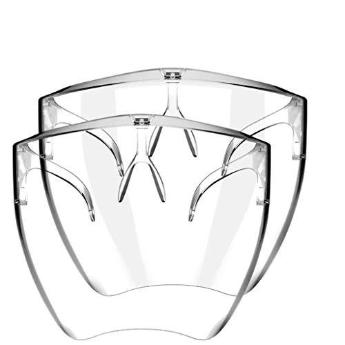 Gafas Protectoras Reutilizables_Mask_Mascarillas Lavable Pantalla Facial Protectora para Hombres para Proteger los Ojos y la Cara para ciclismo al aire libre 2/3/4/5/10 PC (2 PC)