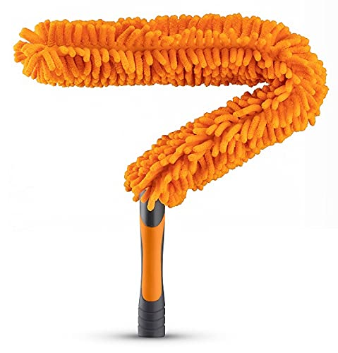 Flexible Ceiling Fan Cleaner Duster // Washable Fan Duster for High Ceiling // Fits All Extension Poles with Standard US Acme Thread // Best Flex-and-Stay Fan Blade Cleaner (Pole Sold Separately)