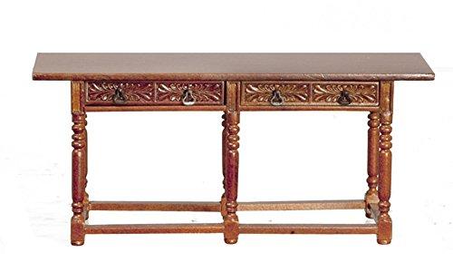 Melody Jane Dollhouse Spanish 17th C Walnut Refectory Table Miniature JBM Furniture