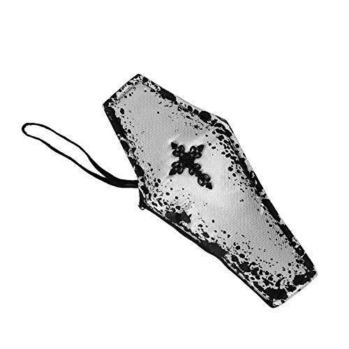 WIDMANN 07806 Handtasche schauriger Sarg, Damen, Schwarz/Grau