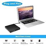 External DVD Drive, BEVA Portable USB 3.0 DVD CD RW Writer Burner Player Optical DVD Drive for Apple MacBook Air, Macbook Pro, PC Laptop, Support Windows 7/8/10/XP/Mac OS