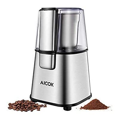 AICOK Electric Coffee Grinder Fast and Fine Fin...