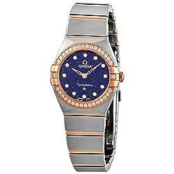 Quartz Diamond Blue Dial Ladies Watch