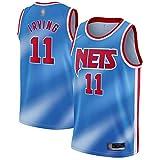 THDB Camiseta de entrenamiento de baloncesto personalizada Kyrie Brooklyn NO.11 Azul, Nets Irving 2020/21 Swingman Jersey transpirable ropa deportiva para hombres - Edición clásica