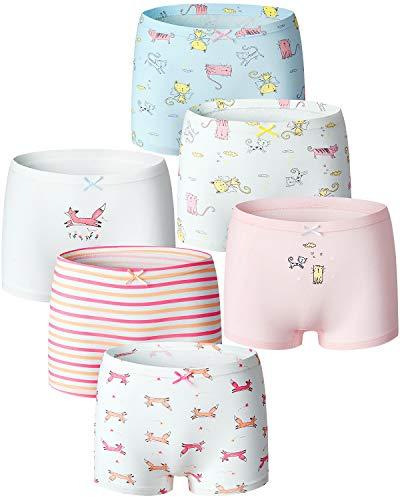 Adorel Mädchen Pantys Unterhosen Baumwolle 6er-Pack Kätzchen & Fuchs 122-128 EU (Herstellergröße 130)