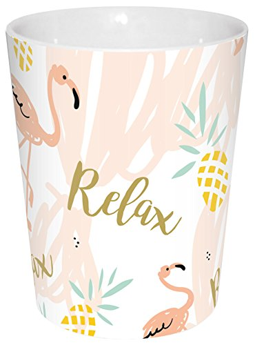 infinite by GEDA LABELS (INFKH) Becher Flamingo Relax Porzellanbecher V-Mug, Porzellan, Mehrfarbig, 8,5 x 8,5 x 10 cm