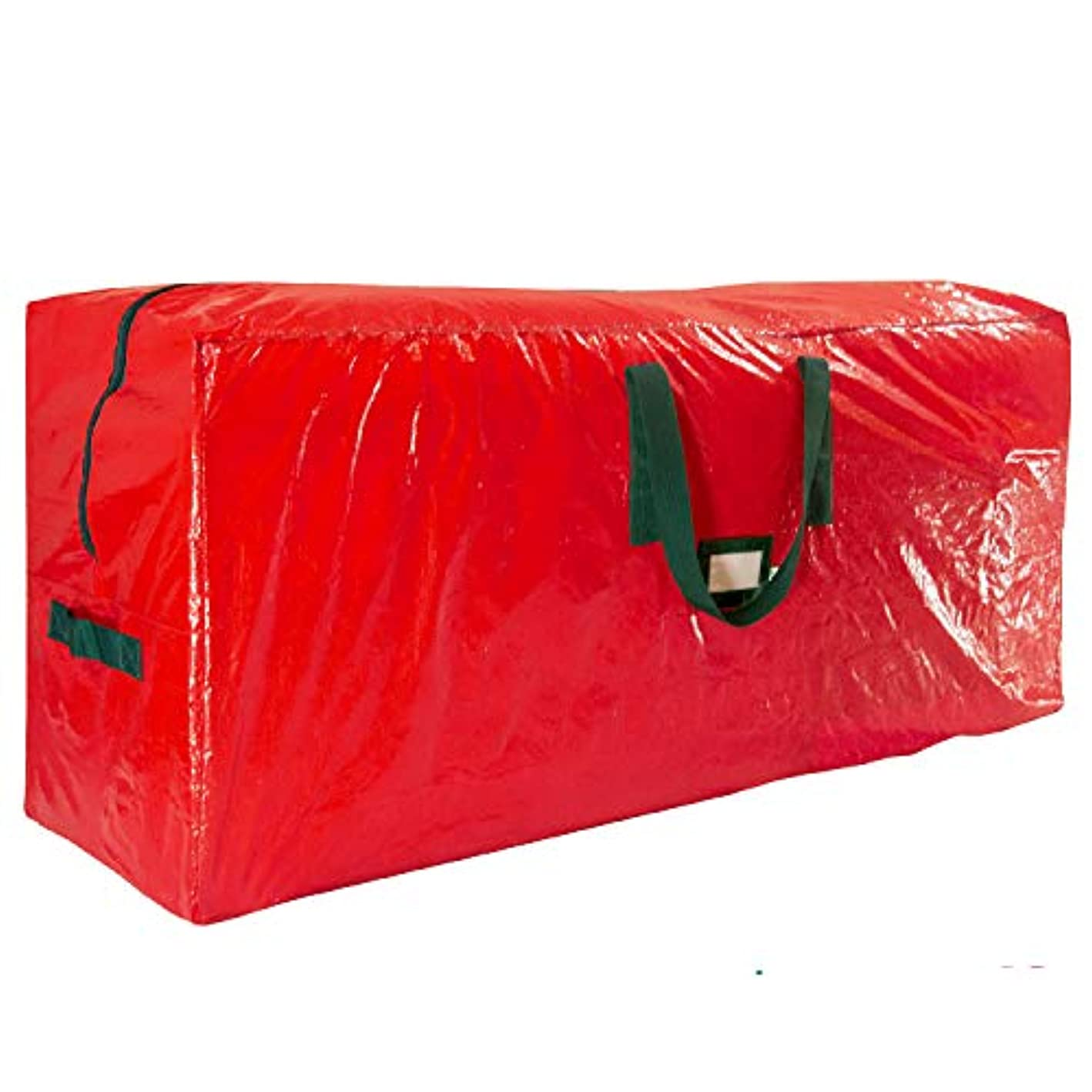 Premium Red Large Holiday Christmas Tree Storage Bag-Fits Trees Up to 7 Feet Tall-Tear Resistant Zippered Bag with Reinforced Handles -48