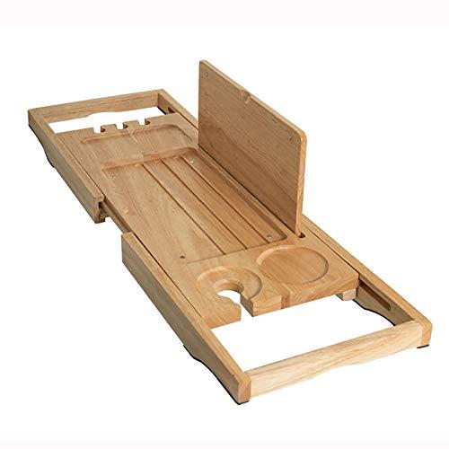 Bandejas para bañera Bandeja de Bañera Extensible, Tabla de Baño de Madera de Bambú con Soporte para Tableta de Libro/Copa de Vino/Soporte para Teléfono/Jabonera, Se Expande hasta 37.4 Pulgadas