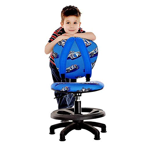 Fswallow Office Chair with Back Support Swivel Chair Ergonomic Height Adjustable Kids Desk Chair (Chair Only) Support Mesh Computer Chair, Designed for Interactive Workstation Gaming Chairs.