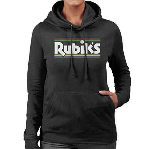 Rubik's Stripes 1970s Logo Women's Hooded Sweatshirt