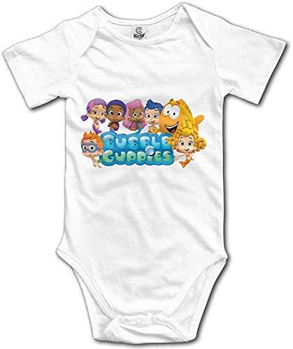 Dezzert030 Blasen-Guppys-niedliche Muster-Entwurfs-Familie das lustige organische Unisexjungen-Mädchen-Weiß