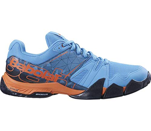 BABOLAT PULSA Men, Zapatillas de pádel Hombre, Bleu Orange VNM, 44.5 EU