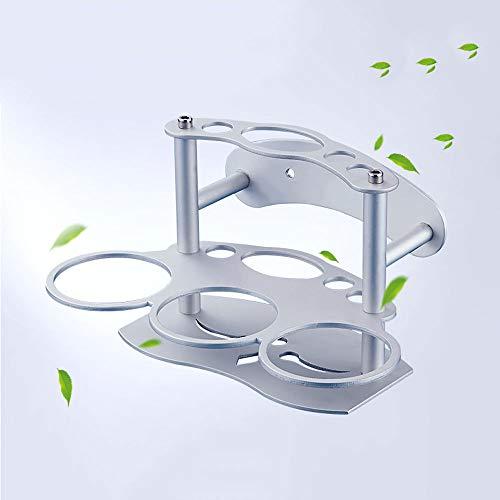 Ghelf Multifunción espacio aluminio cepillado dientes taza titular traje elegante simplicidad pasta de dientes metal mini baño estante pulido espejo a prueba de óxido cepillo estante
