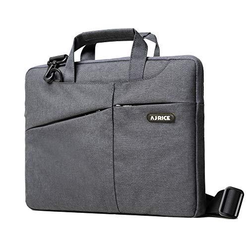Laptop Shoulder Bag for 13-13.3 MacBook Pro & Air Computer Notebook Sleeve Carrying Case Black