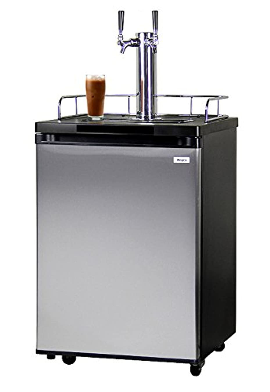 Kegco ICK20S-2 Double Faucet Javarator Cold-Brew Coffee Dispenser - Black/Stainless Steel