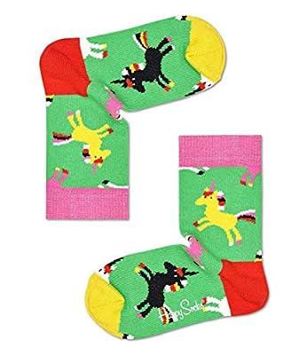 Happy Socks Kids - Calcetines individuales de colores para niño, color azul Unicornio 2-3 años