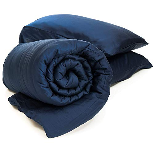 truHugs Bamboo Weighted Blanket - Cool Sensory Blanket w/Silky Breathable 100% Lyocell Sensory Cover...