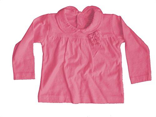 Baby meisje shirt met lange mouwen T-shirt lange mouwen paars roze wit grijs in de maat 71 74 80 86 en 98 selecteerbaar katoen.