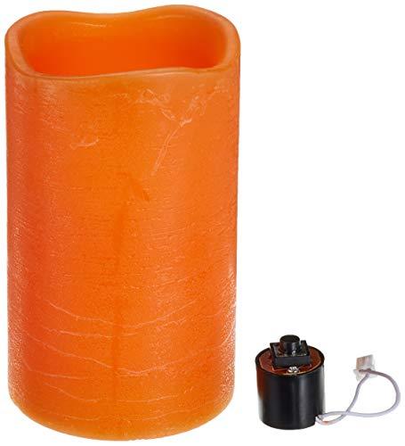 Zeitgesteuerte LED Echtwachskerze warmweiß flackernd orange