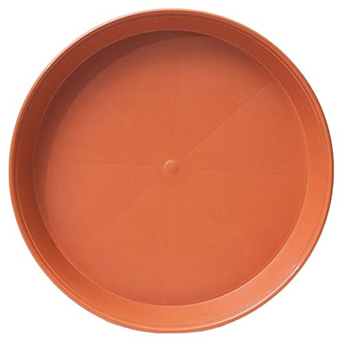 Muddy Hands Heavy Duty Terracotta Round Plastic Plant Pot Saucer Planter Water Drip Tray Base Plate (1, 30cm)