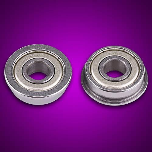 10 Uds F608Z rodamientos de bolas en miniatura con bridas de acero 8x22x7mm para cortadora de césped carretillas y carros de mano cubo de rueda