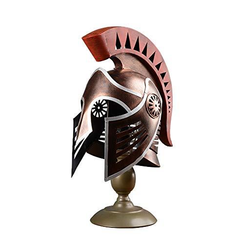 SWNN lámpara de mesa Casco De Iluminación, Casco Modelo Del Ornamento, Práctico Y Creativo Equipamiento Del Hogar, Restaurante Bar Artesanía (20 * 34 * 48 Cm)