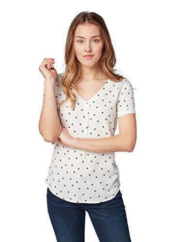 TOM TAILOR Damen Blusen, Shirts & Hemden Gemusterte Bluse White Triangle Design,42