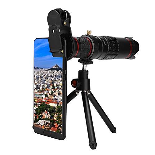 Hakeeta 22-voudige zoomlens voor mobiele telefoons met statief, telelens met hoge resolutie met dubbele regeling, universele set, voor het grootste deel van de mobiele telefoon, goede kleurweergave