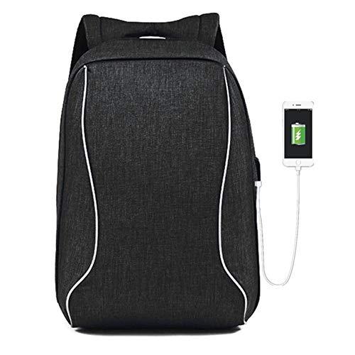 LUYIYI メンズ盗難防止用肩コンピュータのバックパック旅行充電学生バッグ (Color : Black)