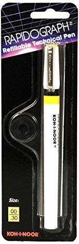 Koh-I-Noor Rapidograph Technical and Artist Pen.30mm Nib, 1 Each (3165.ZZ)