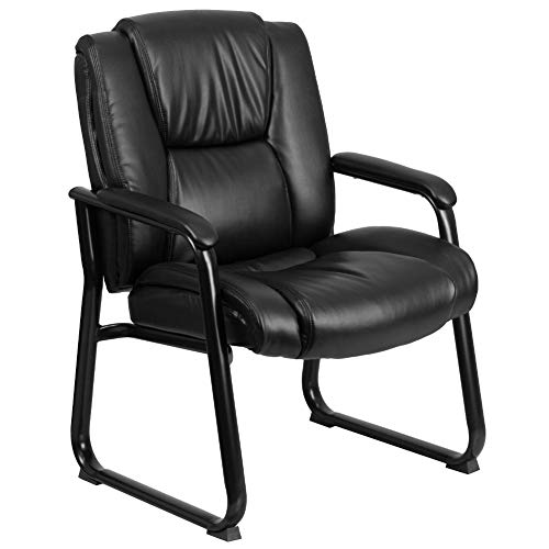 Flash Furniture Reception Chairs | Black LeatherSoft Side...