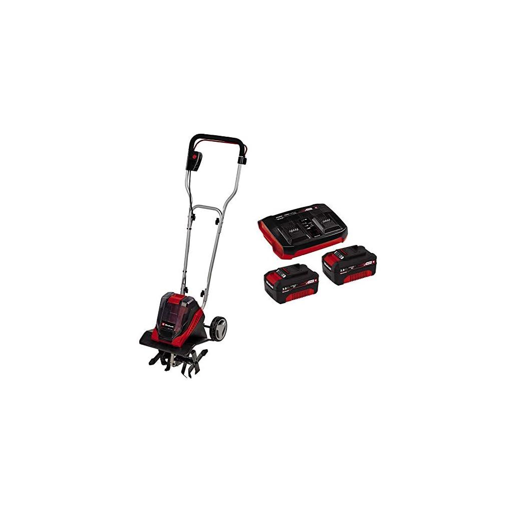 Einhell Motobineuse sans fil GE-CR 30 Li Solo – Système Power X-Change + Starter Kit 2 x 3,0 Ah Power X-Change et…