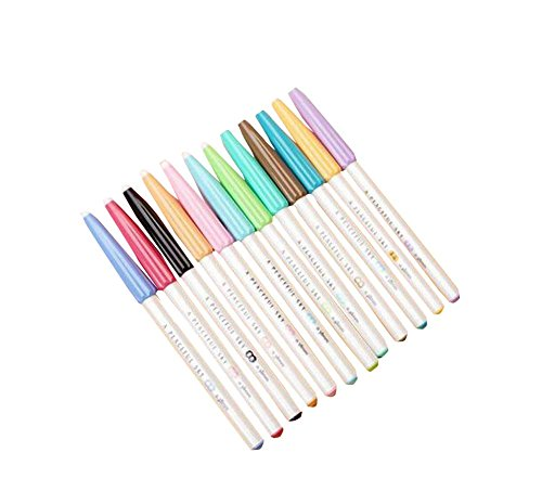 0.38 MM 12 couleurs effaçable Gel Stylos Bureau Mark stylos à bille 12 PCS