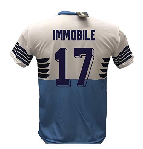 DND di D'Andolfo Ciro Maglia Calcio Lazio Aquila Immobile 17 Replica Autorizzata Bambino (Taglie 6 8 10 12) Adulto (S M L XL) (M (Adulto))