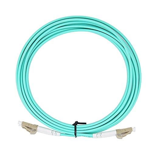 Cable de Fibra óptica LC/UPC a LC/UPC Cable de conexión de Fibra multimodo de Doble núcleo de 125 μm, Plug and Play para transmisión de Datos. (300 cm / 3,3 Yardas, Verde)