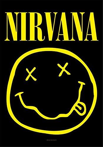 Refosian Merchandising - Nirvana - Smiley - 100% Polyester Flag Poster