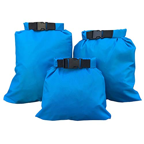Waterproof Dry Sacks, 3/5-Pack All Purpose Dry Sack, Lightweight Outdoor Dry Bags Storage Compression Bag Sack Poch Packing Organizers Dry Bag for Rafting Boating Camping Travel, Ship from USA