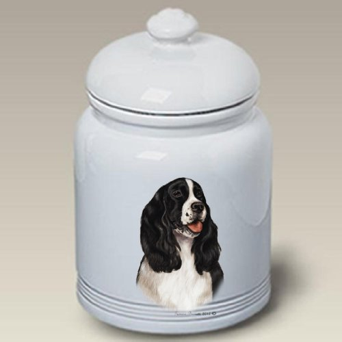 Why Should You Buy Springer Spaniel B/W - Tamara Burnett Treat Jars