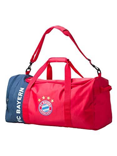 FC Bayern München Sporttasche, offizielle Tasche in rot mit FCB Logo
