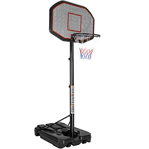 TecTake Canestro da Basket con Colonna impianto da Basket Mobile | Salda stabilità | Altezza canestro: 200-305 cm