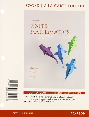Finite Mathematics & Its Applications, Books a la Carte Edition Plus NEW MyLab Math with Pearson eText with Pearson eTex