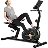 Merax Magnetic Recumbent Exercise Bike | 8-Level Resistance | Quick Adjust Seat
