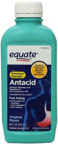 Equate - Antacid/Anti-Gas Liquid - Maximum Strength, Original Flavor, 12 fl oz